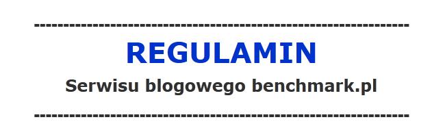 Regulamin blogów benchmark.pl
