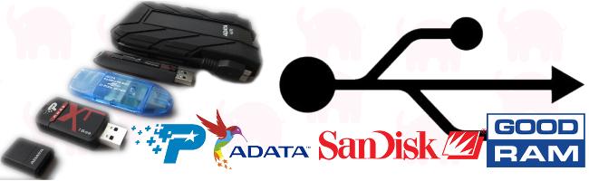 Test pamięci przenośnych USB 2.0 i 3.0