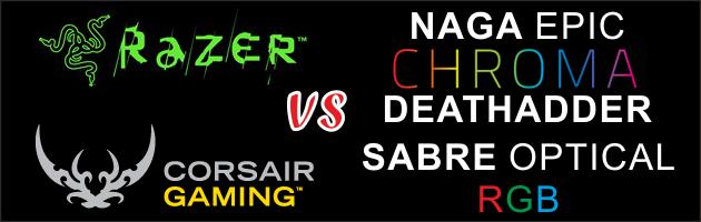3 gamingowe i kolorowo podświetlane gryzonie marek Razer & Corsair