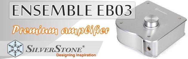 Elegancki wzmacniacz słuchawkowy - SilverStone Ensemble EB03